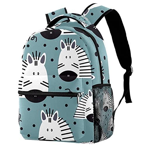 Mochila Impermeable Mochila Escolares para Niños Niñas Adolescentes Mochilas De Viaje De Ocio Caballo Lindo de Dibujos Animados