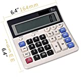 HYBUKDP Office Electronics Calculators Standard Function Electronics Calculator 12 Digit Calculators Large Display Handheld for Daily Basic Office Calculators Basic (Color : B)