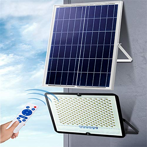 Focos Solar LED Exteriores, Foco Proyector Solar Solar LED Impermeable Súper Brillante, Batería De 10000mA, Luz De Panel Solar Grande Para Jardín Inalámbrico(Size:30W 31LED 5000mA,Color:6500K)