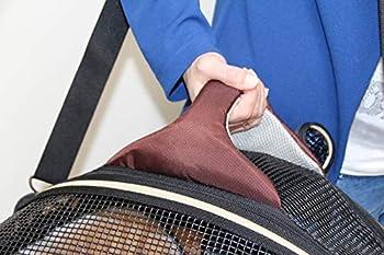 CROCI FAST&EASY Sac 2en1, Sac de transport et panier de couchage pour chien et chat, Sac bandoulière pour animal de compagnie, Sac de transport sécurisé, Taille M, Charge Maximum 15 kg