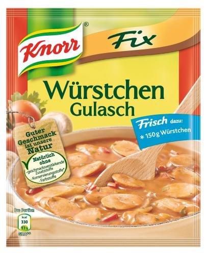 Knorr Fix für Würstchen-Gulasch, 11er Pack (11 x 32 g Beutel)