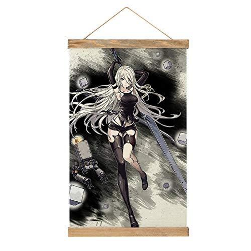 HirrWill hohe Qualität Wandbilder Deko Poster, A2 NieR Automata, Poster Wandbild mit Rahmenzubehör, fertig zum Aufhängen für die Heimdekoration -30cm '' × 50cm ''