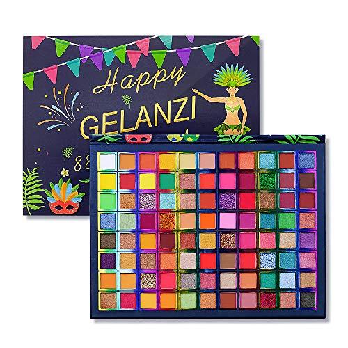 Palette di ombretti 88 colori Shimmer altamente pigmentato e glitter metallizzato Palette per trucco degli occhi lucidi impermeabili Polvere liscia colorata impermeabile per regalo donna