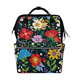 Mochila cambiador de pañales para mamá y papá, mochila de verano, flamenco, viaje, escuela, niño, niña, gran capacidad Color-1 Talla:talla única