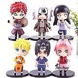MNZBZ 6 unids/Set Naruto Shippuden Uzumaki Naruto Haruno Sakura Hyuuga Hinata Gaara Jiraiya Uchiha I...