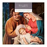 Hallmark, Confezione da 10 biglietti di Natale a tema religioso, 2 illustrazioni