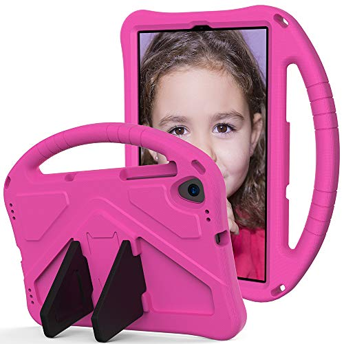 Tading Kids Case for Lenovo M10 10.3 Inch Tablet, Children Friendly EVA Foam Protective Cover Stand Handle Case for Lenovo Tab M10 FHD Plus (TB-X606F/TBX606X) 10.3' - Hot Pink
