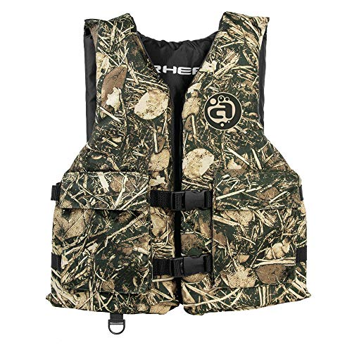 Airhead Youth Sportsman life vest with pockets, Camo, 10004-03-A-CM