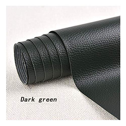 Slijtvast PVC-kunstleer stuk lederreparatie plakken zelfklevende patch reparatie patch voor lederen bank meubels autostoelen en tassen, donkergroen, 1,37 × 0,5 m schrijfwaren speciaal