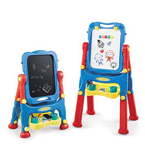 NextX Cavalletto per Bambini all in One Regolabile Art Cavalletto Lavagna Lavagna Giocattolo educativo Regali per Bambini Toddlers