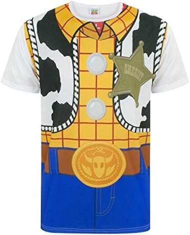 Disney Toy Story Woody Cowboy Costume Outfit Hombres Novedad Camiseta