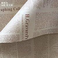 GAOTING 10個/バッグギフトラッピング紙ロールヴィンテージ新聞二重張りギフトラッピングフラワーショップブーケ包装紙 (色 : Violet)