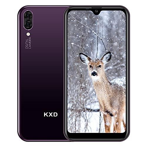 KXD A1 Teléfono Móvil Libres Android Smartphone Libre Baratos Dual SIM, Pantalla 5,71' IPS Water-Drop Screen Movil, Cámara Trasera y Frontal 5MP 16GB ROM (128GB Ampliable SD), Morado