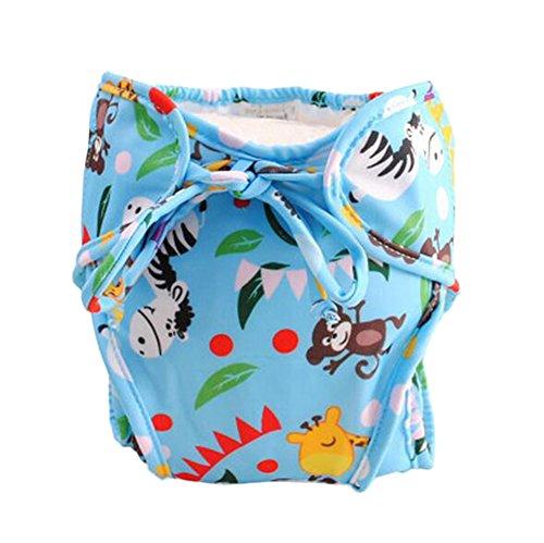 Taille moyenne, couche réglable de natation infantile, [Animal Friends, Blue]