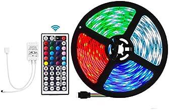 VIPMOON LED Light Strip 5M 300 LEDs 5050 RGB SMD Strip Light IP65 Waterproof Flexible Strip with 44 Key IR Remote