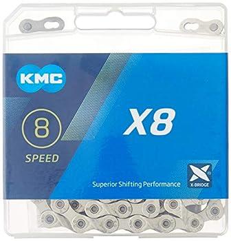 KMC X8.99/X8 Bicycle Chain  1/2 x 3/32-Inch 116L Silver