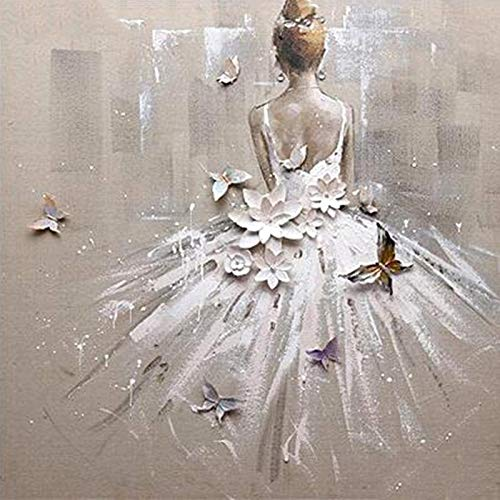 5D DIY Diamond Painting Full Square Drill'Ballet girl' 3D Embroidery Cross Stitch gift Home Decor Gift Square 40x40cm