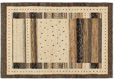 Lifetex.eu Hochwertiger Orientteppich Kashkuli-Muster (ca. 125x185 cm) Modern handgeknüpft Schurwolle Beige Teppich