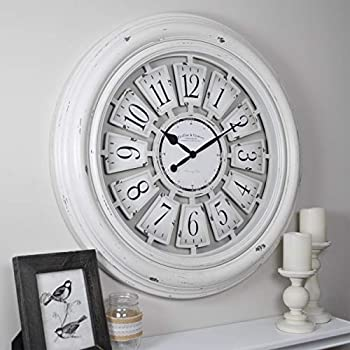 FirsTime & Co. 29 Inch Farmhouse Plaques Wall Clock