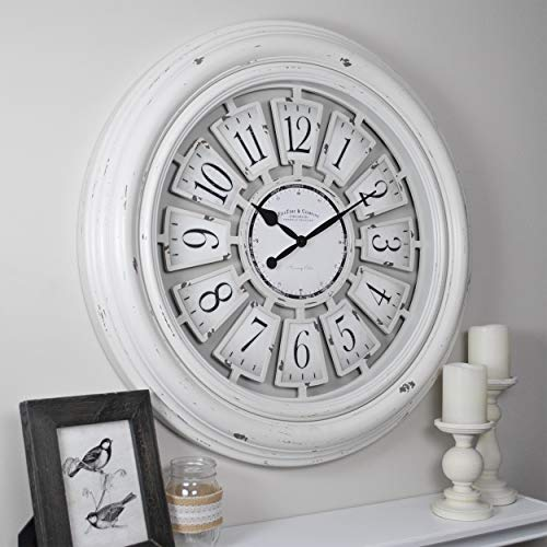 FirsTime & Co. Farmhouse 29-in Plaques Wall Clock Only $48.99 (Retail $90.09)