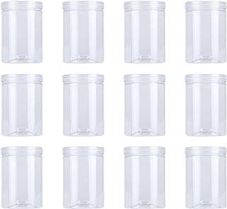 12 pcs 500 ml de pots de nourriture en plastique Cuisine Case à cookie Scellé Cuisse Cuisine Stockage Organisation de stoc...