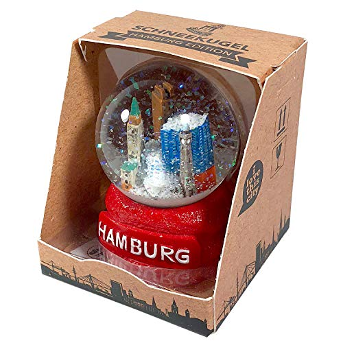 I LOVE HH Schneekugel Hamburg Skyline