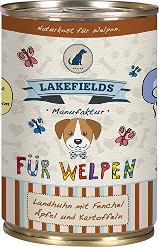 Lakefields Hochwertiges Premium Welpen Hundefutter Huhn (6 x 400 g)
