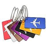 lubanoia equipaje etiqueta aviones avión forma maleta etiqueta, 7x Material de aleación de viaje