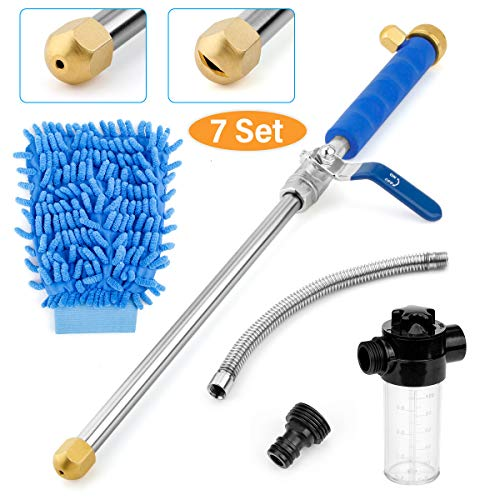 No Kink Water Hose Flexible Stretch Water Pipe for Home Lawn Car with Professional Water Spray Nozzle 25ft//50ft//75ft//100ft Blue,100ft//30m Kissme Magic Expandable Garden Hose
