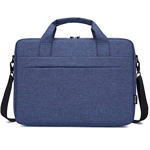 GUOCU Bolso Bandolera/Maletín para Portátli, Funda Protectora Laptop Sleeve Dura y Impermeable para iPad Pro/Ordenador Notebook/MacBook Air & Pro,Azul,14