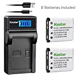 Kastar Battery (X2) & Slim LCD Charger for Sanyo Xacti VPC-E1403, VPC-E1500, VPC-E1500TP, VPC-E1600, VPC-E1600TP, VPC-T700, VPC-T850, VPC-T1060, VPC-T1284, VPC-T1495, VPC-T1496, VPC-TP1000 Cameras