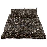 Juego de funda nórdica Fondo Plumas de pavo real Diseño de abanico Ropa de cama Decoración 3 juegos de piezas 1 Fundas nórdicas con 2 fundas de almohada Juego de cama de microfibra Decoración de dormi