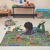 Carpet Studio Alfombra Carretera 95x133cm, Alfombra Infantil para Dormitorio & Cuarto de Jugar, Lavable a Máquina, Fácil de Limpiar, Anti-Deslizante - Playcity