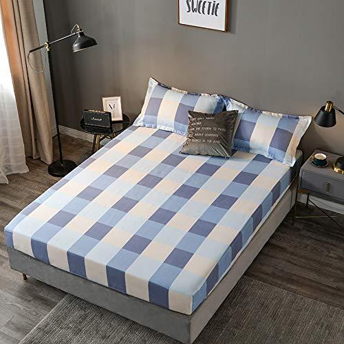 HAIBA Comfortabele nachten effen geverfd poly katoen hoeslaken of kussen paar, stapelbed - zwart, 200CMx220CM+20CM (3PCS)