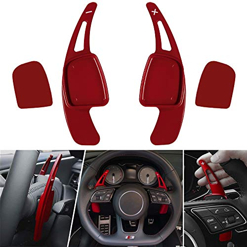 Steering Wheel Shift Paddle Shifter Transfer Extension Interior Trim Cover for Audi, Aluminum Alloy Blades Compatible with Audi A3 A4 A5 S3 S4 S5 SQ5 Q5 Q7 Q8 TT TTS
