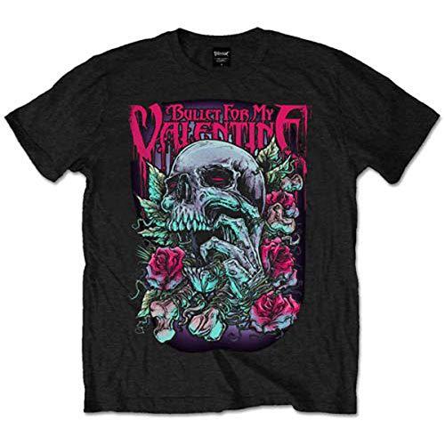Bullet For My Valentine Skull Red Eyes - T-shirt - Homme, Noir, XX-Large