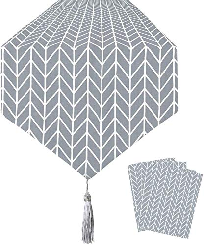 E/A Tischläufer Grau Tischset-geometrische Form Tischdecke, Verwendet Für Küche Und Haushalt Tischdecke, Bettwäsche Restaurant, Party, Weihnachtsdekoration (grau)(Size:30 * 100cm/in,Color:grau)