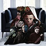 Horror Movie Blanket Halloween Decoration Throws Blankets,Soft and Comfortable Bedding for All Seasons.