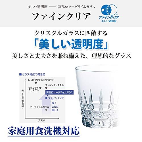 東洋佐々木ガラスオンザロックグラスブルー265ml本格焼酎道楽藍まぶし日本製食洗機対応P-33113-DBD-JAN