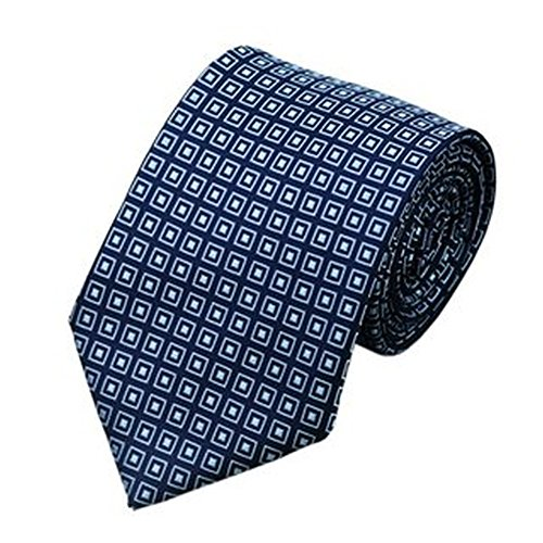 Jason & Vogue Designer Cravate dans Bleu Marine avec Hellblauen Carreaux