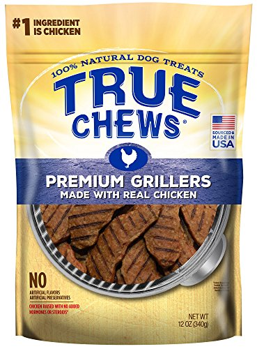 True Chews Premium Grillers Made with Real Chicken 12 oz, BROWN, Medium (019368-2303)