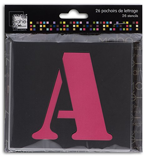 Dreager by Toga – 26 plantillas de letra – Las 26 letras del alfabeto en Majuscula – Plantillas multiusos, para trazar, colorear, pintar con cepillo o pincel, formato 9 x 6,5 cm