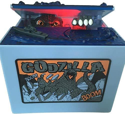 Creative Movie Godzilla - Hucha de dinero electrónica, diseño de monstruo de dinosaurio, el mejor regalo para niños, niñas, niños, niños