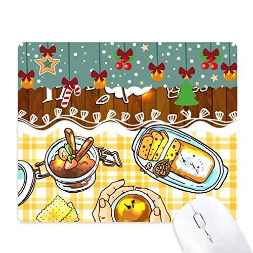 Tijd voor Thee Koekjes Chocolade Muis Pad Game Kantoor Mat Kerst Rubber Pad