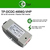 Tycon Systems TP-DCDC-4856G-VHP 56V DC Out 70W Hi Power DC to DC Converter and Passive POE Inserter - Gigabit