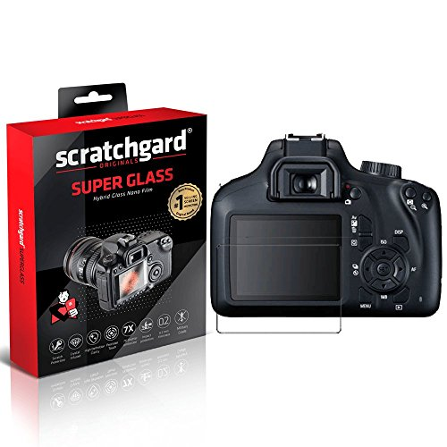 Scratchgard 7X Shatter Protection Unbreakable Hybrid Nano Glass Film for Canon EOS 3000D