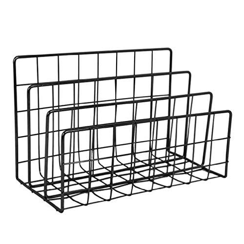 Escritorio nórdico simple estantería de hierro para escritorio escritorio escritorio de oficina Bookend simple estante de almacenamiento creativo estantería goma borradores blanco