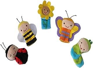 Ogquaton Alta Calidad Luna Dedo Conjunto de Marionetas Insectos Dibujos Animados Temáticos Dedos Pareja Traje Abeja Mariquita Sol Flor Mariposa Oruga Dedo Muñeca Popular