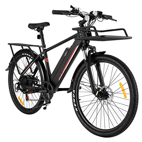 Speedrid 26' Electric Bike for Adults, Electric Mountain Bike/Electric Commuting Bike with Removable 36V 10.4Ah Battery, Professional 21/24 Speed Gears