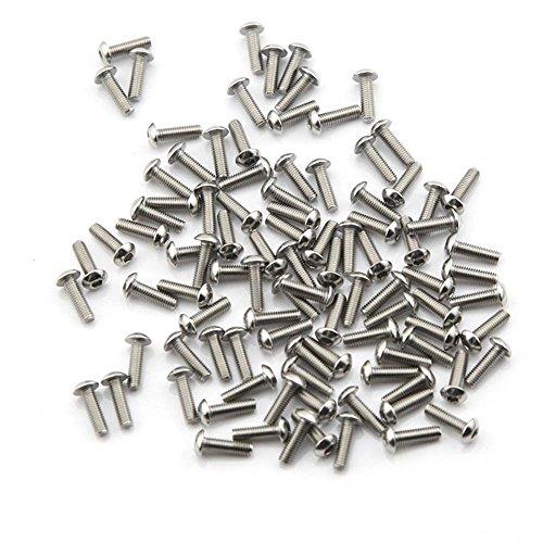 boulon 20PCS, /écrou 20PCS M8*60mm Acier inoxydable 304 Pi/èces M/écaniques Bouton /à t/ête hexagonale Socket T/ête C/âble Boulons Vis avec /écrous